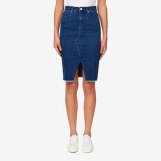 Denim Pencil Skirt  MID DENIM WASH  hi-res
