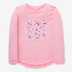 Sequin Cat Tee  BUBBLEGUM  hi-res