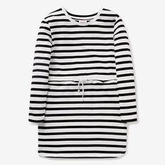 Stripe Tie-Waist Dress  BLACK/CANVAS  hi-res