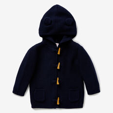 Toggle Knit Hoodie  MIDNIGHT BLUE  hi-res