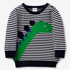 Dino Stripe Knit  MIDNIGHT BLUE  hi-res