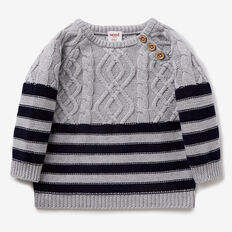 Stripe Cable Knit  BIRCHMARLE  hi-res