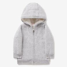 Sherpa Knit Hoodie  CLOUDY MARLE  hi-res