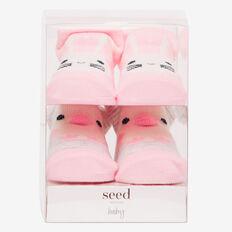 Bunny & Chick Sock Gift Box  PINK  hi-res
