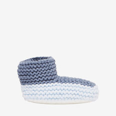 Chunky Knit Bootie  PACIFIC BLUE MARLE  hi-res