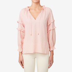 Self Spot Ruffle Top  SOFT BLUSH  hi-res