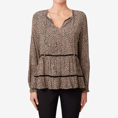 Animal Print Tiered Top  ANIMAL PRINT  hi-res