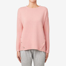Snap Button Top  SOFT BLUSH MARLE  hi-res
