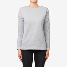 Spotty Marle Top  MID GREY MARLE  hi-res