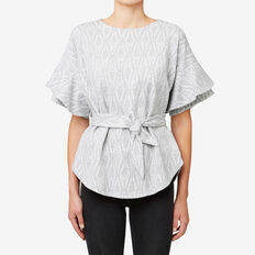 Textured Tie Top  MID GREY MARLE  hi-res