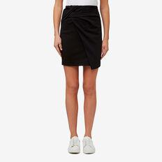 Knot Wrap Skirt  BLACK  hi-res