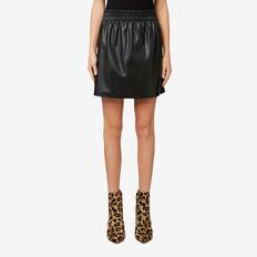 Leatherette Mini Skirt  BLACK  hi-res