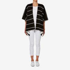 Stripe Poncho  BLACK/WHITE  hi-res