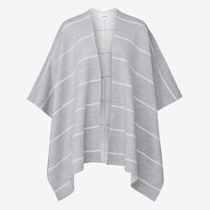 Stripe Poncho  GREY/ WHITE  hi-res