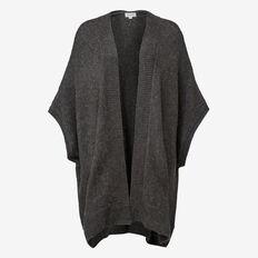 Soft Knit Poncho  CHARCOAL  hi-res