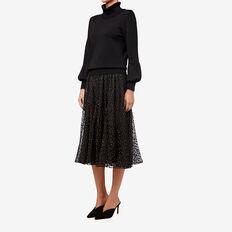 Lurex Full Skirt  BLACK  hi-res