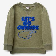 Let's Go Outside Sweater  LIGHT FOREST KHAKI  hi-res