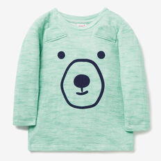 Double Knit Bear Tee  JUNGLE GREEN  hi-res