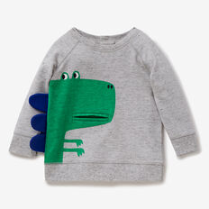 Dino Pocket Sweater  CLOUDY MARLE  hi-res