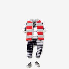 Knitted Vest  BRICK RED  hi-res