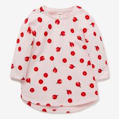 Ladybug Spot Terry Dress  ICE PINK  hi-res