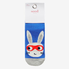 Super Rabbit Socks  BLUE  hi-res