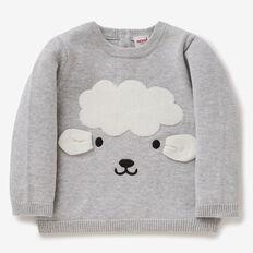 Chenille Sheep Knit  FOG GREY MARLE  hi-res
