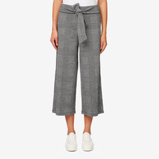 Wide-Leg Jersey Pant  DARK CHECK  hi-res