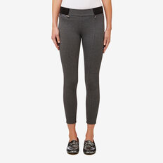 Zip Detail Jegging  CHARCOAL MARLE  hi-res