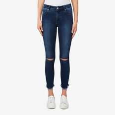 Curved Hem Jean  PRIMARY BLUE DENIM  hi-res