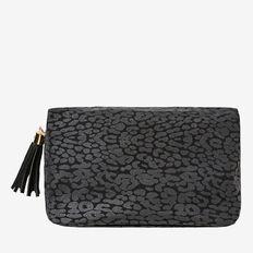 Large Cosmetic Bag  BLACK OCELOT  hi-res