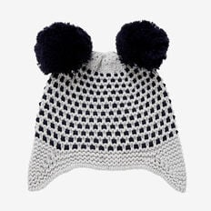 Pom Pom Ear Beanie  MIDNIGHT BLUE  hi-res