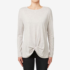Knot Front Top  TAUPE MARLE  hi-res