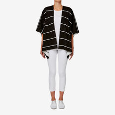 Stripe Poncho  BLACK/WHITE  hi-res