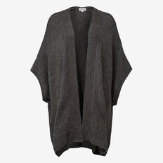 Soft Knit Poncho  CHARCOAL  hi-res