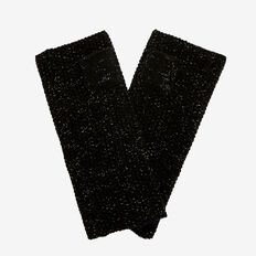 Sparkle Knit Mittens  BLACK  hi-res