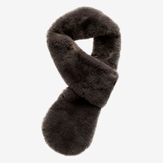 Faux-Fur Scarf  CHARCOAL  hi-res