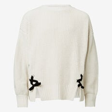 Laced Sweater  CREME  hi-res