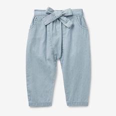 Chambray Harem Pants  BABY BLUE WASH  hi-res