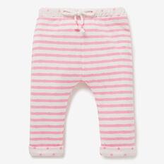 Double Knit Stripe Track Pant  BUBBLEGUM/CANVAS  hi-res