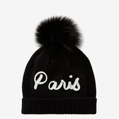 Paris Beanie  BLACK  hi-res