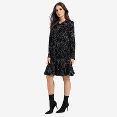 Floral Outline Dress  BLACK FLORAL  hi-res