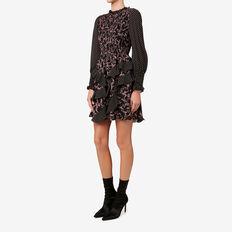 Asymmetric Frill Dress  FLORAL/SPOT  hi-res