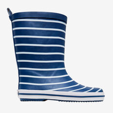 Stripe Gumboot  NAVY  hi-res