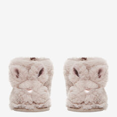 Fluffy Bunny Slippers  GREY  hi-res