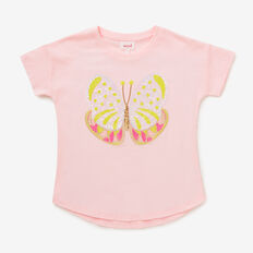 Sequin Butterfly Tee  ICE PINK  hi-res