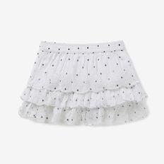 Spot Embroidered Shorts  WHITE  hi-res