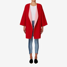 Reversible Coat  BOLD RED/BLOSSOM PNK  hi-res