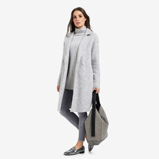 Oversized Coat  LIGHT GREY MARLE  hi-res