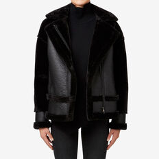 Shearling Jacket  BLACK  hi-res